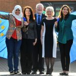L-R Louise Hardy, Lilla Preston, Bob Beresford with middle east entrepreneurs Eman Nasr from Egypt and Meriem Debbagh from Morocco)