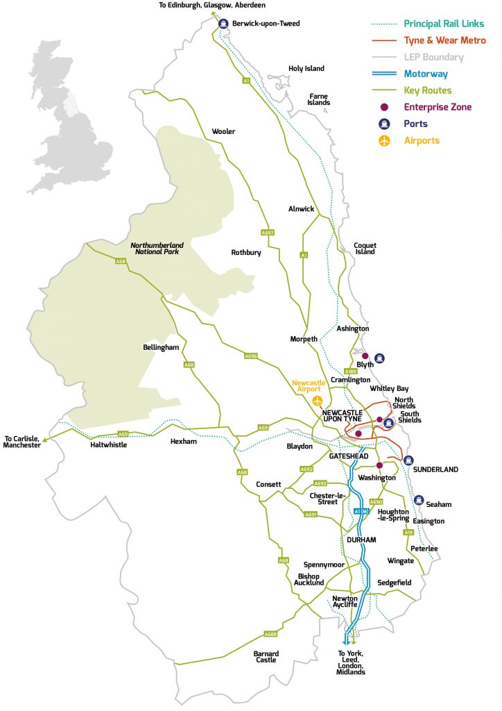 North East LEP Area map